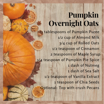 Pumpkin Overnight Oats